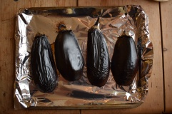 Charred aubergines give that really smoky flavour in baba ganoush - find the recipe at Crumbs and Roses