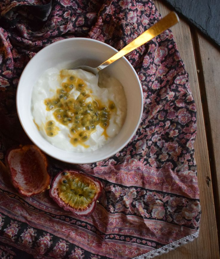 Live yoghurt and passionfruit - Crumbs and Roses