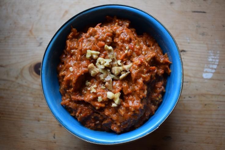 Muhamra - the perfect vegan dip via Crumbs and Roses blog