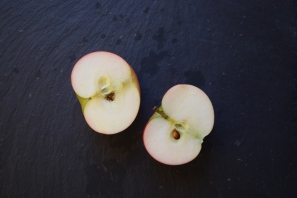 Still life, two apple halves - food photography from Crumbs and Roses