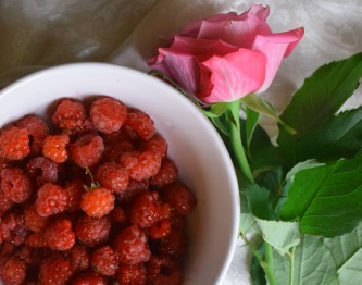 Flowers and raspberries - wild food tips from Crumbs and Roses ii