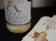 Grappa from Polli Distillery, Italy (Crumbs and Roses)