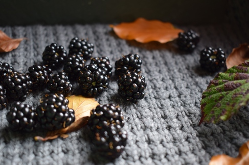 Scattered blackberries - food photography and writing (Crumbs and Roses)