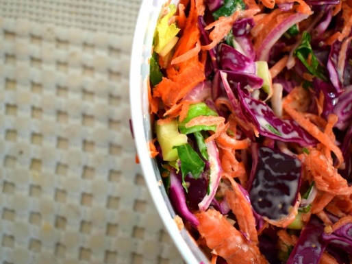 Beautiful winter colours help brighten up a healthy lunch - Crumbs and Roses blog
