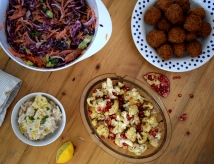 The perfect vegetarian dinner spread - healthy and filling - Crumbs and Roses blog
