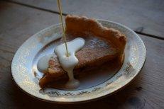 Apple Custard tart - dessert recipe from Crumbs and Roses food blog