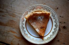 Apple custard tart - new recipe on the Crumbs and Roses blog