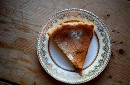 Apple custard tart - new recipe on the Crumbs and Roses blog