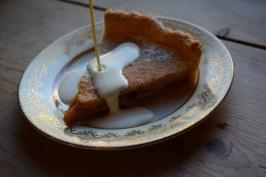 Delicious apple custard tart with a dash of Scotch whisky - Crumbs and Roses blog