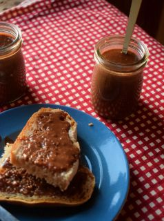 A homemade version of that delicious hazelnut and chocolate spread we all know and love