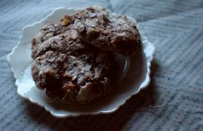 Banana and pecan cookies - recipe testing
