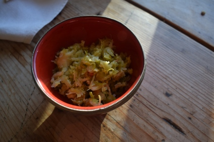 Fermented vegetables are crazy good for you, especially in winter. Recipe for Brussels sprout kimchi